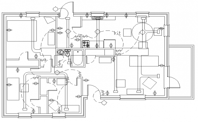 Electrical Layout Plan House House Plans 97499