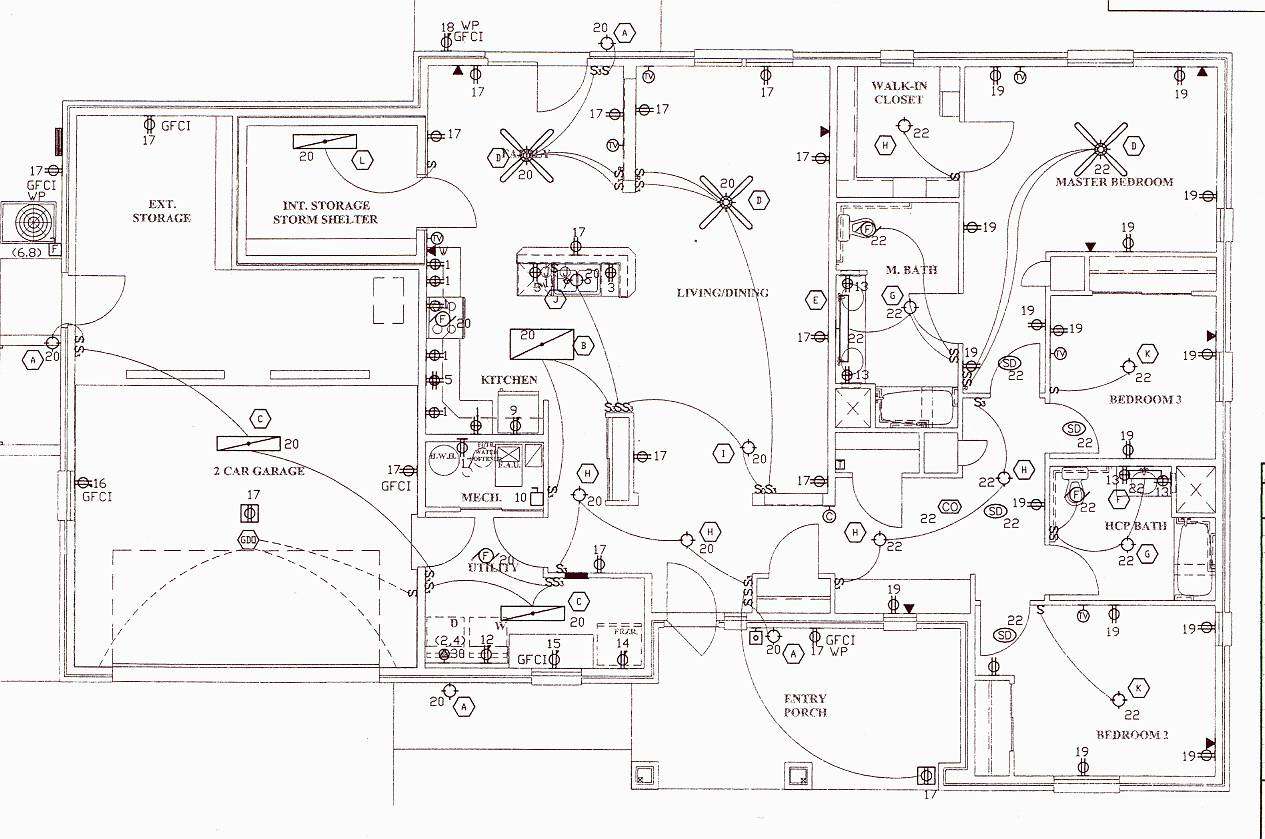 Electrical Wiring Diagram Blueprints Plans House House Plans 143022