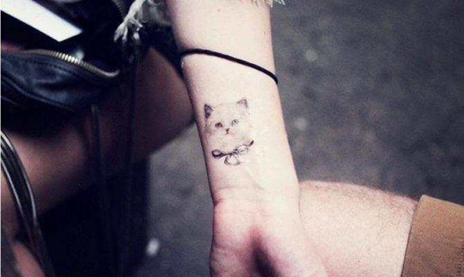 Elegant Cat Tattoo Wrist Worlds Style