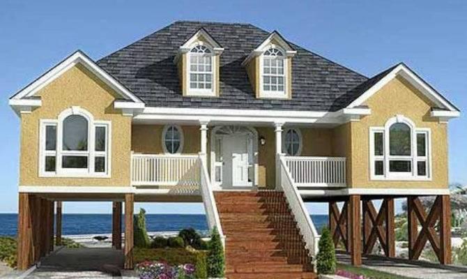 Elegant Coastal House Plans Porches Plan