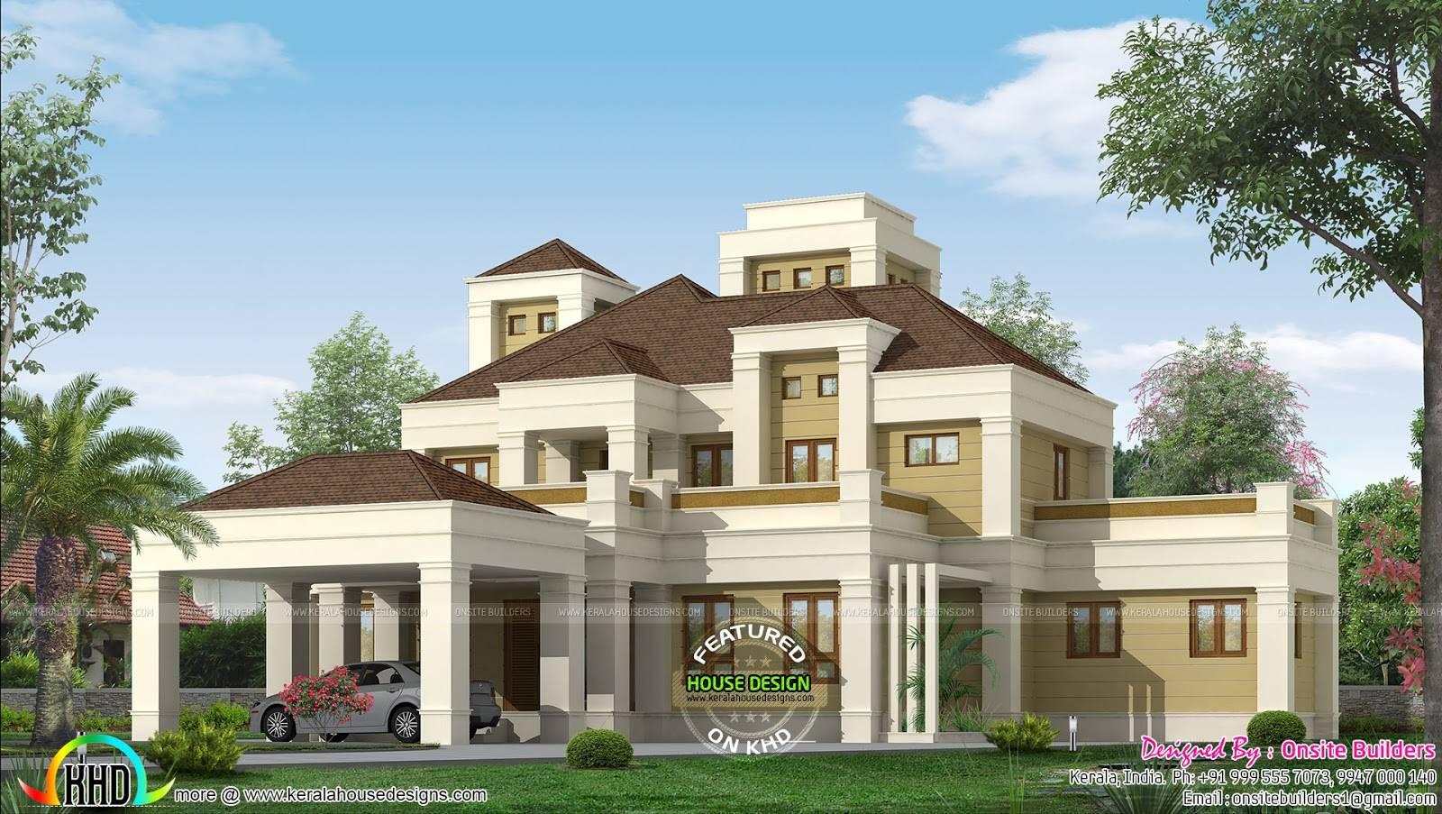 Elegant Colonial Home Plan Kerala Design Floor House Plans 126505