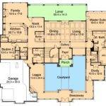 Elegant Courtyard House Plan Floor Master
