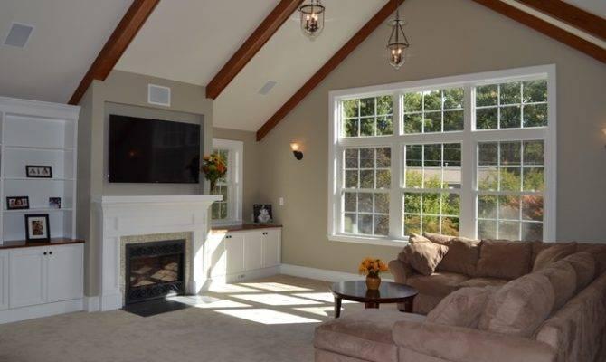 Elegant Living Above Garage Traditional Room