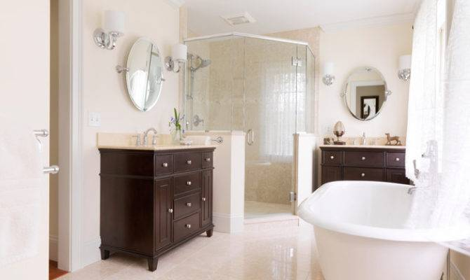 Elegant Master Bath His Hers Vanities