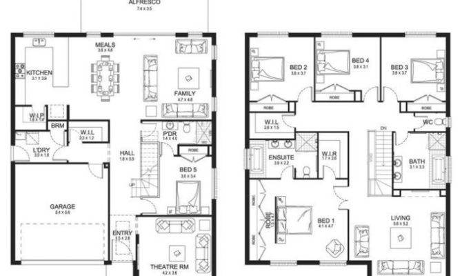 Elegant Modern Double Storey House Plans New Home