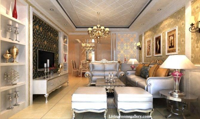 Elegant Modern Pop False Ceiling Designs Living
