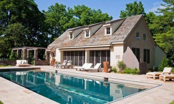 Elegant Pool House Designs Classic