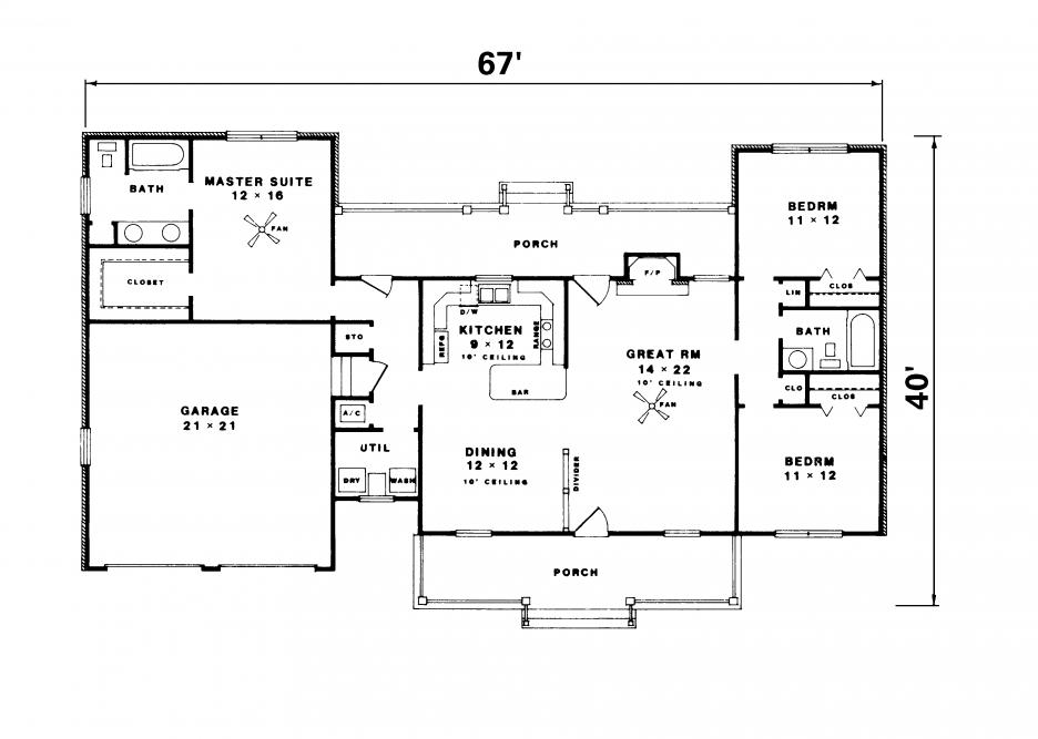 Elegant Simple Floor Plans House Plans 81840