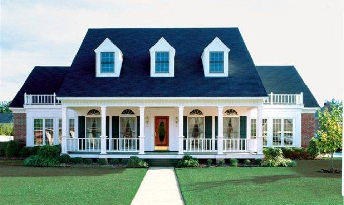 Elevation Cape Cod Colonial Country Southern House Plan