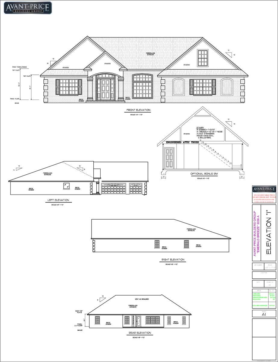 Elevation Floor Plan House Escortsea House Plans 169059