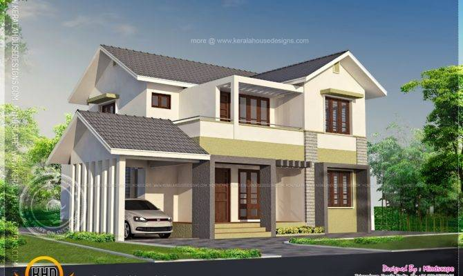Elevation Square Feet Residence Kerala Home