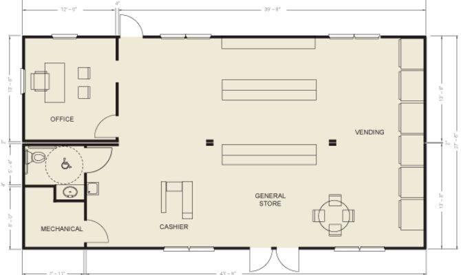 Ellis Modular Buildings General Stores Floor Plans