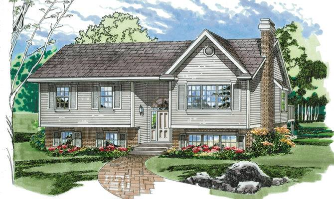 Elmcrest Split Level Home Plan House Plans