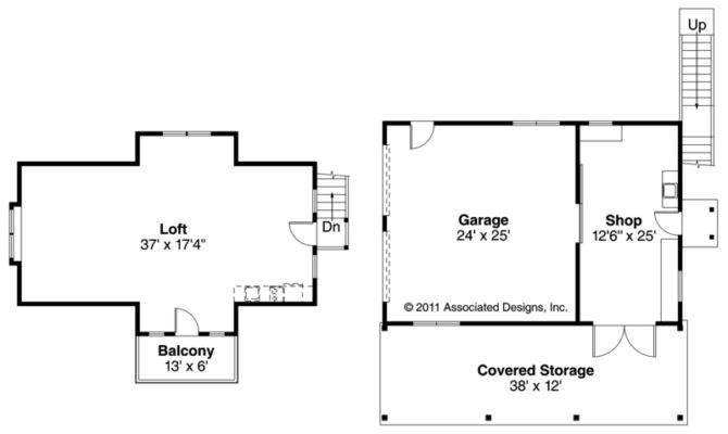 Elwood Cool Garage Floor Plans Loft