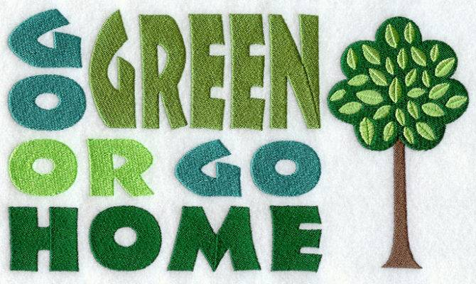 Embroidery Designs Library Green Home