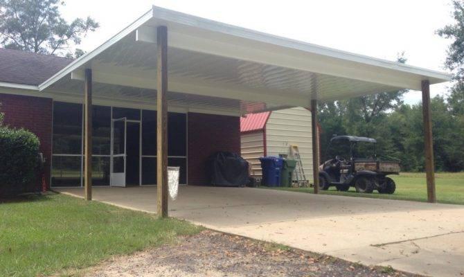 Enclosed Carport Garage Door Enclosing Lattice