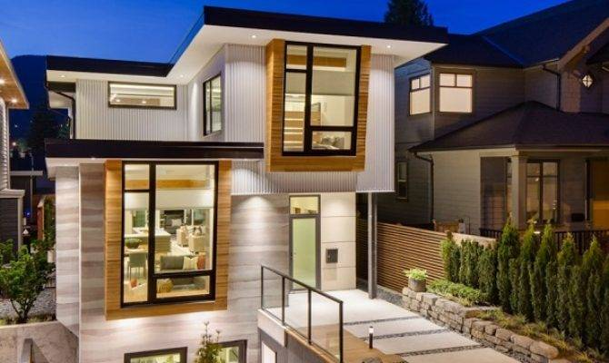Energy Efficient Contemporary Home Design Garden