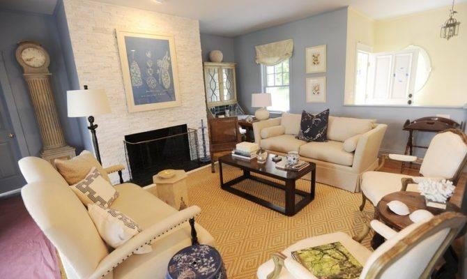 England Style House Living Room Design Interior New