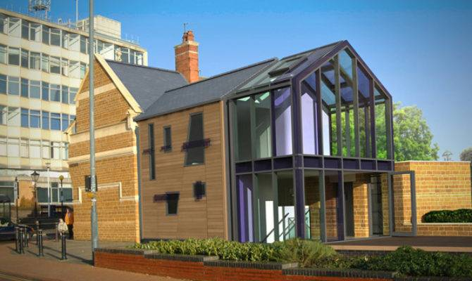 English Architecture Contemporary House Glass Enter