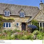 English Cotswolds Cottage Flowering Summer Garden