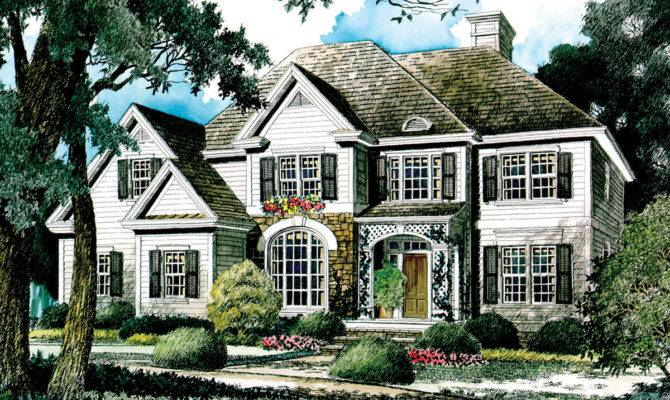 English Country Home Plan Architectural