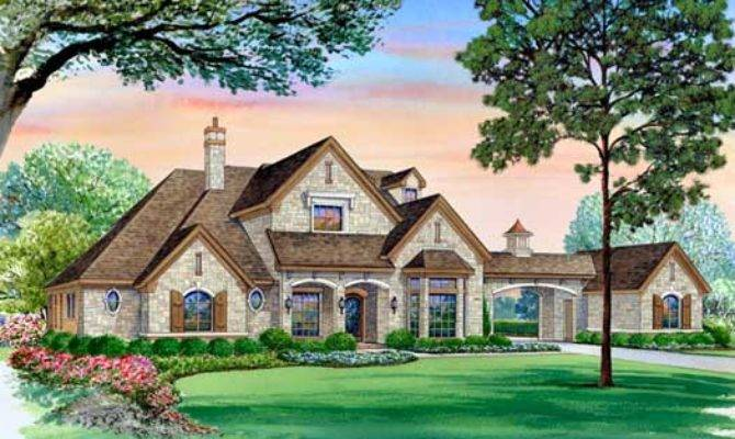 English Country House Plan Bedrooms Bath