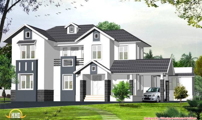 English Style Home Kerala Design
