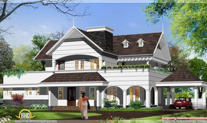 English Style House Kerala Home
