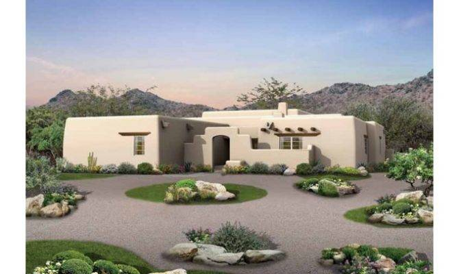 Eplans Adobe House Plan Old Style Courtyard Square Feet