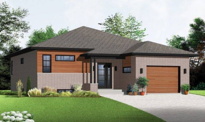 Eplans Contemporary Modern House Plan Two Bedroom