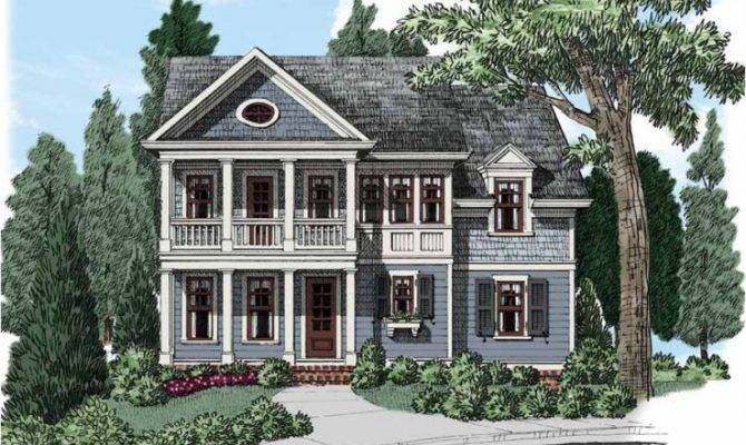 Eplans Cottage House Plan Alluring Neoclassical Narrow Lot Design