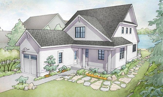 Eplans Cottage Plan Narrow Lot Waterfront Walkout