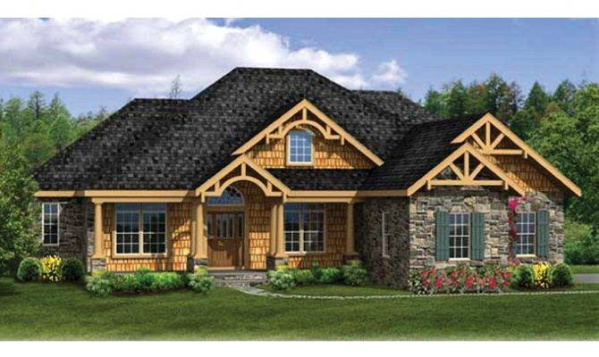 Eplans Craftsman House Plan Ranch Finished Walkout