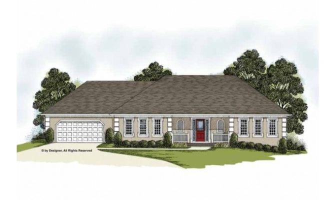 Eplans European House Plan French Provincial Ranch Square