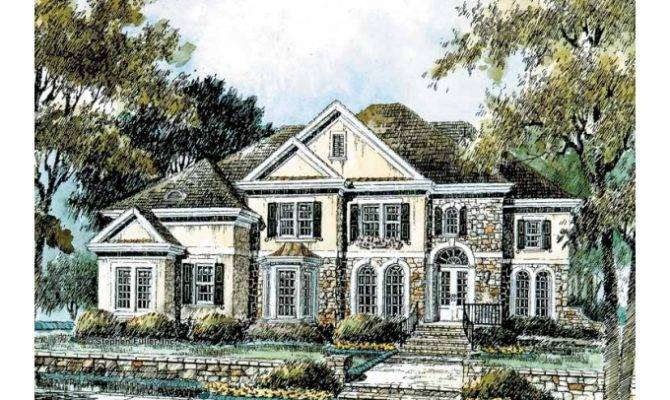 Eplans French Country House Plan Luxury Home Old World Feel