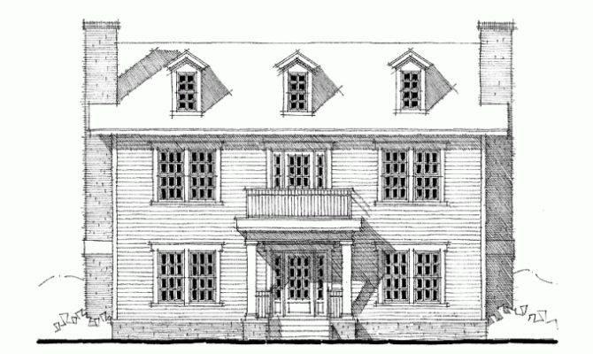 Eplans Georgian House Plan Three Bedroom Square Feet