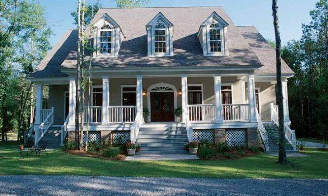 Eplans Low Country House Plan Embellished French Style