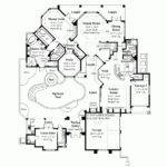 Eplans Mediterranean House Plan Unique Courtyard Square