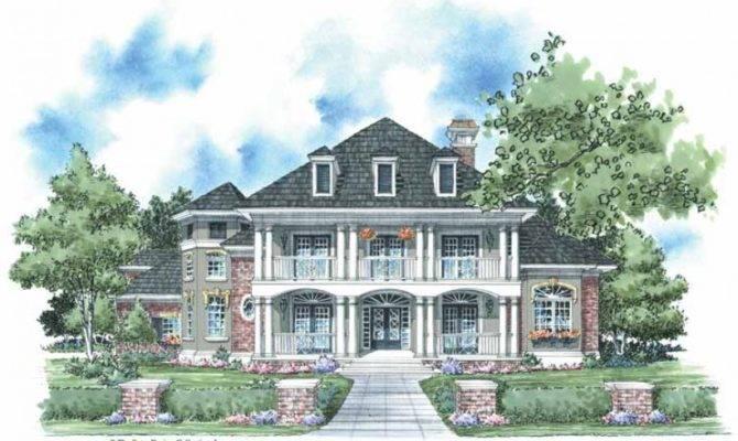 Eplans Plantation House Plan Classic Style Square