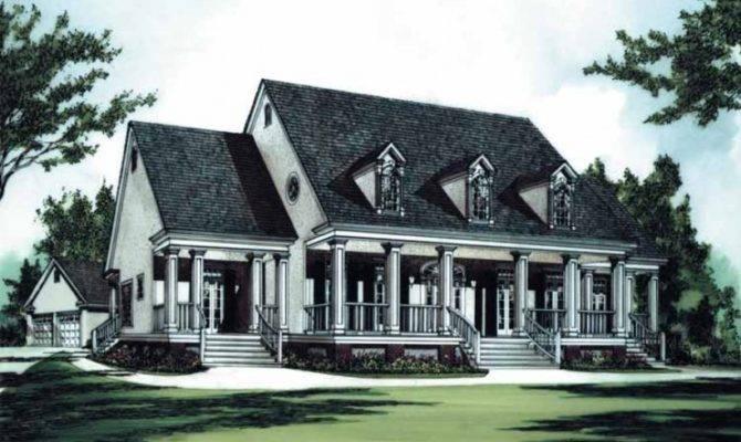 Eplans Plantation House Plan Southern Luxury Square Feet