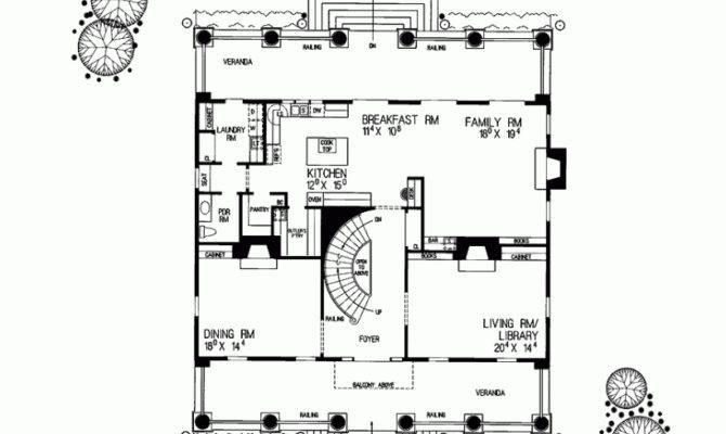 Eplans Plantation House Plan Spacious Design Square Feet