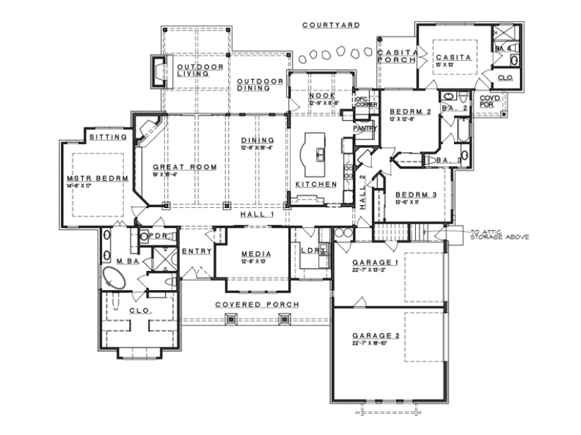 Eplans Prairie House Plan Hill Country