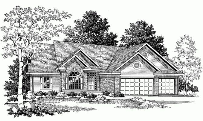 Eplans Ranch House Plan Brick Western Square Feet