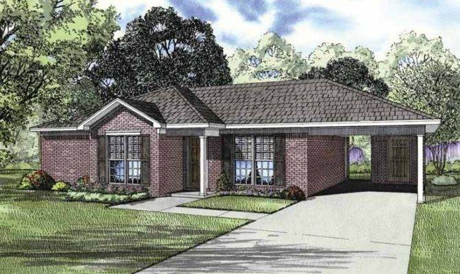 Eplans Ranch House Plan Two Bedroom Square Feet