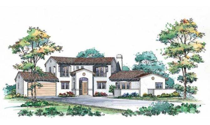 Eplans Spanish House Plan Mission Grace Square Feet