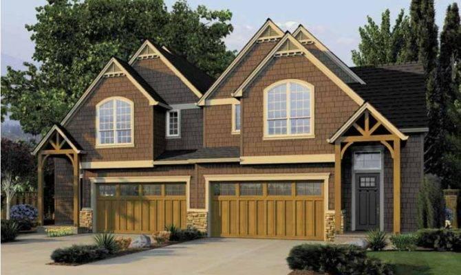 Eplans Split Level House Plan Duplex Curb Appeal