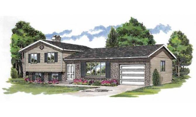 Eplans Split Level House Plan Simple Design Efficient Uses