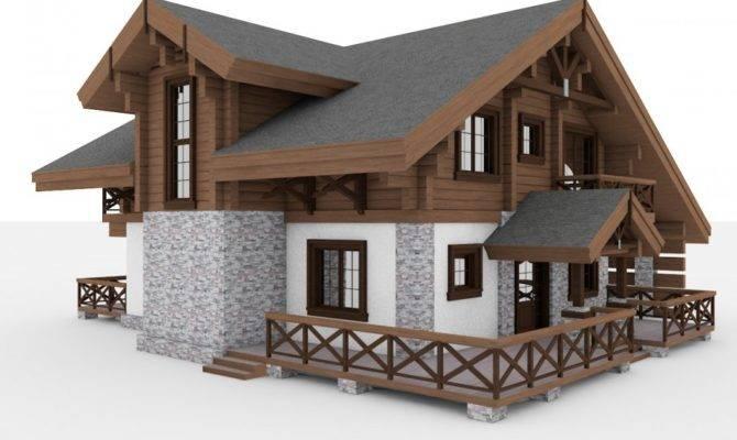 European Chalet Houses Collection Model Cgstudio