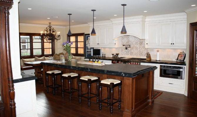 European Country Kitchen Remodel Traditional
