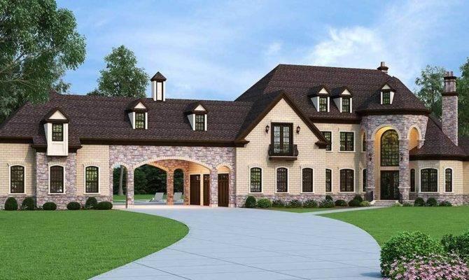 European Estate Home Porte Cochere